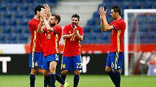 Die spanische Nationalelf hat sich im EM-Test gegen Südkorea keine Blöße gegeben.