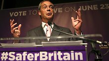 Lachender Anti-Europäer: Nigel Farage von der rechtspopulistischen Ukip träumt seit Jahren von einem EU-Ausstieg.