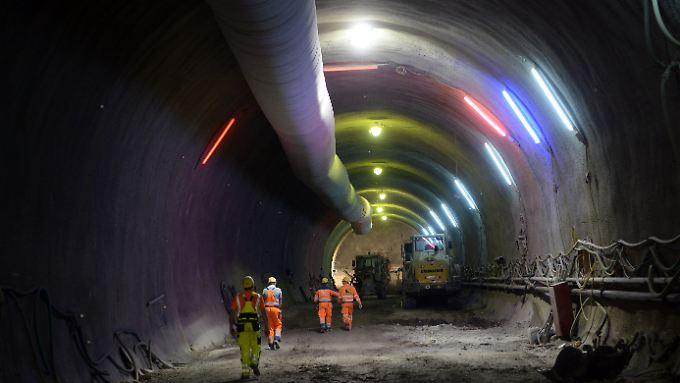 Im Cannstatter Tunnel des Bahnprojekts Stuttgart 21.