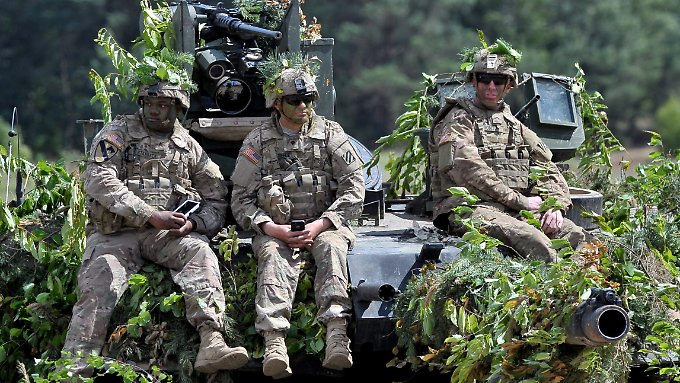 "US-Soldaten bei dem Großmanöver ""Anakonda 2016"""