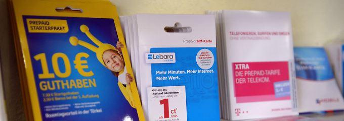 Auch Prepaid-Karten werden für Betrügereien genutzt.