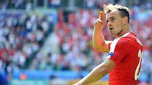 "+ Fußball, Transfers, Gerüchte +: Shaqiri zum BVB? ""Im Moment noch Käse"""