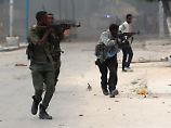Somalische Sicherheitskräfte lieferten sich heftige Gefechte mit den Angreifern.