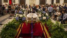 Sarg in Rom aufgebahrt: Abschied von Bud Spencer