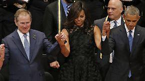 Trauerfeier für tote Polizisten: Obama hält bewegende Rede in Dallas
