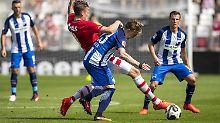 Testspiele der Bundesligisten: Hertha vermasselt Generalprobe für Europa