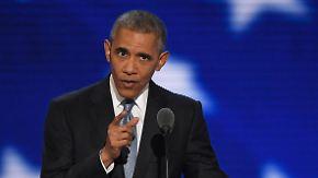 """""""Niemand ist so qualifiziert"""": Obama gibt glühende Empfehlung für Clinton als US-Präsidentin ab"""