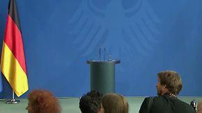 Warten auf die Kanzlerin: Merkel nimmt Stellung zur politischen Lage