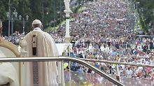 Sturz bei Open-Air-Messe in Polen: Papst warnt vor Machthunger