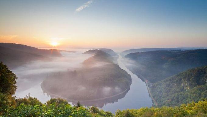 Die Saarschleife gehört zu den Top-10 -Naturausflugszielen in Deutschland.