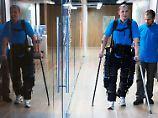 Das intensive Training mit Roboterprothesen wie dem Exoskelett stimuliert Hirnareale und kann diese auch teilweise reaktivieren.