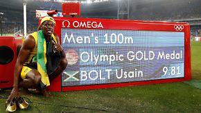 Triumph über 100 Meter: Bolt gewinnt siebtes Olympia-Gold