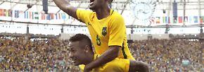 ... Brasiliens Fußballikone Neymar. Er will unbedingt den Olympia-Titel im eigenen Land holen.
