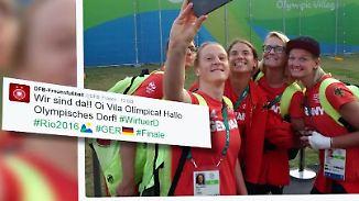 Ankunft im Olympischen Dorf: Deutsche Fußballfrauen greifen nach Gold im Maracanã