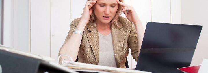 Ist die die psychische Belastung hoch, droht Burn-out und Depression.