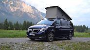 So oder ähnlich stellt man sich die Reise in einem Reise-Van vor. Irgendwo anhalten, Aufstelldach raus und fertig.