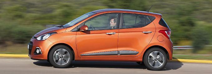 """Knuffig sieht der Hyundai i10 auch im Alter aus. Im Bild das Sondermodell """"Intro Edition"""" aus dem Jahr 2013."""
