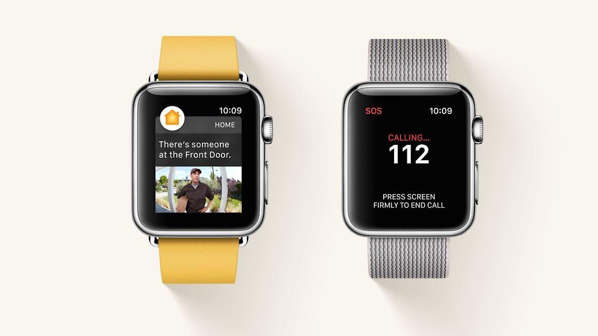 watch os update mit sos funktion apple watch ruft auf knopfdruck hilfe n. Black Bedroom Furniture Sets. Home Design Ideas