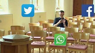 """Online in der Kirche: Kirche lockt mit offenen Wifi-""""Godspots"""""""