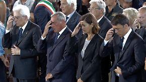 Weitere Nachbeben im Katastrophengebiet: Italien nimmt Abschied von Erdbebenopfern