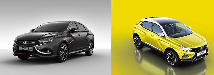 Mit einer sportlichen Limousine und einem SUV will Lada in Zukunft wieder auf sich aufmerksam machen.