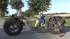 Kaum zu glauben, aber wahr: Dieses Monsterrad soll ins Guinness-Buch der Rekorde rollen