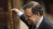 Rajoy erhielt exakt das gleiche Ergebnis wie am Mittwoch.