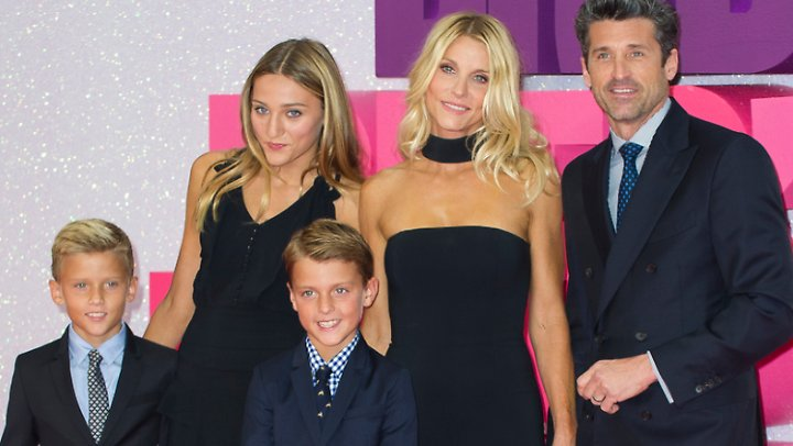 Patrick Dempsey mit Ehefrau Jill und den Kindern Darby, Sullivan und Tallula.