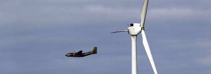 Windräder stören das Radarsystem: das Erkennen von Luftfahrzeugen wird erschwert.