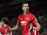 Fiebert dem Manchester Derby entgegen: Uniteds Superstar Zlatan Ibrahimovic.
