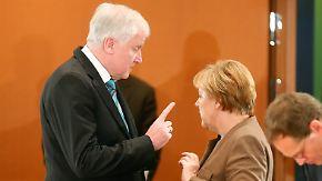 Seehofer gegen Merkel: Ende des Dauerstreits in der Union ist nicht in Sicht