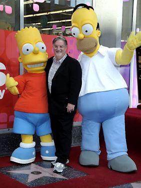 Nicht nur die Simpsons, sondern auch ihr Schöpfer Matt Groening hat mittlerweile einen Stern auf dem Walk of Fame.