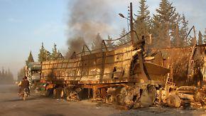 """Luftangriff auf Hilfskonvoi in Syrien: Uno spricht von """"Kriegsverbrechen"""""""