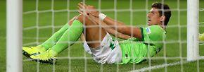"""""""Ich breche mir fast den Fuß und liege im Tor. Der Ball aber nicht."""""""