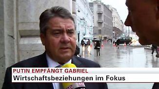 Wirtschaft, Syrien, Ukraine: Gabriel über seine Gespräche mit Putin in Moskau