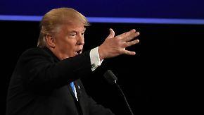 """""""Ich habe den besseren Charakter"""": Trump und Clinton liefern sich heftigen Schlagabtausch"""