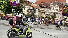 Mopeds und Roller sollen künftig aus dem Tübinger Stadtbild getilgt sein.