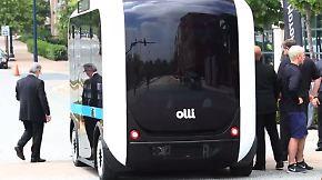 """Elektro-Bus aus dem 3D-Drucker: """"Olli"""" verzaubert die Automobilmesse"""