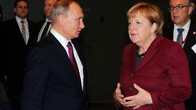 """Gipfel zu Ukraine- und Syrienkonflikt: Merkel spricht von """"sehr klarer, harter Aussprache"""""""