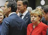 Merkel und andere Staats- und Regierungschefs der EU kritisieren Russlands Syrien-Politik - zunächst bleibt es aber bei Sanktions-Drohungen.