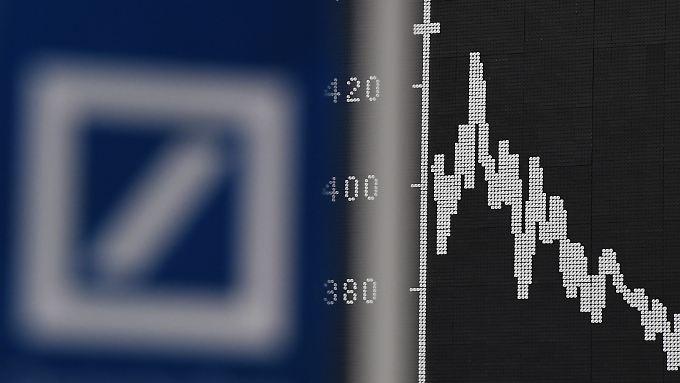 Erneut geht es für die Deutsche-Bank-Aktie nach unten.