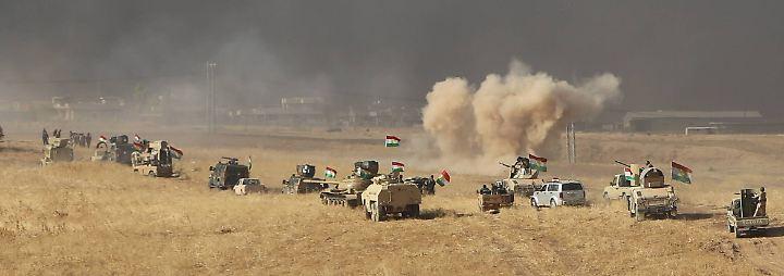 Erbitterter Widerstand: Irakische Armee und Peschmerga rücken an IS-Bastion Mossul heran