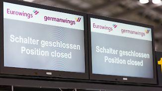 Mehr als 40.000 Passagiere betroffen: Streik legt Eurowings und Germanwings lahm