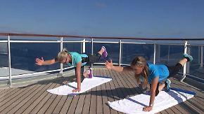 Fitness mit der Skikönigin: Maria Höfl-Riesch bringt Kreuzfahrtgäste auf Trab