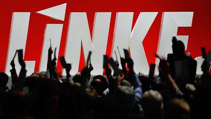 Bekämpfen sie vor allem die SPD? Delegierte auf einem Parteitag der Linken.