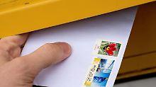 Klassische Briefmarke