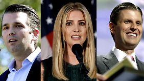 Anti-Trump-Proteste in den USA: Trump holt drei seiner Kinder ins Machtübernahme-Team