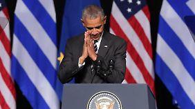 Abschiedsrede in Athen: Obama richtet Appell an Europa