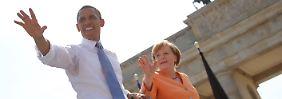 Bittersüße Botschaft: Merkel und Obama verabschieden sich
