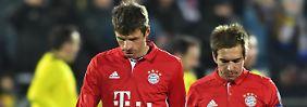 """""""Unser Problem ist, dass wir zu sorglos sind"""": Kapitän Philipp Lahm, hier mit dem Kollegen Thomas Müller."""